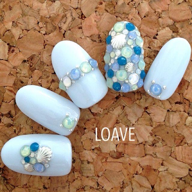 Seashell nail art LOAVEさんのネイル♪[533390] | ネイルブック