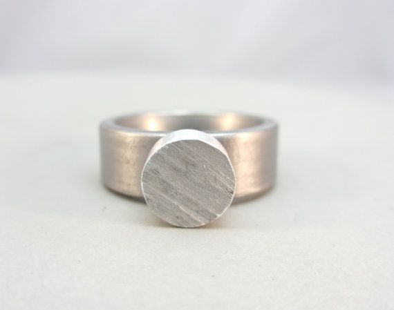 Minimalist Ring Stainless Steel Ring Minimal Jewelry Contemporary Jewelry Design Industrial Ring
