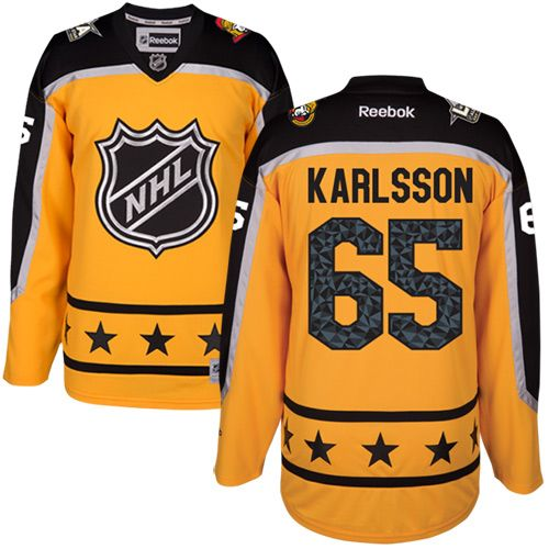 Men's Ottawa Senators #65 Erik Karlsson Yellow 2017 All-Star Atlantic Division Stitched NHL Jersey