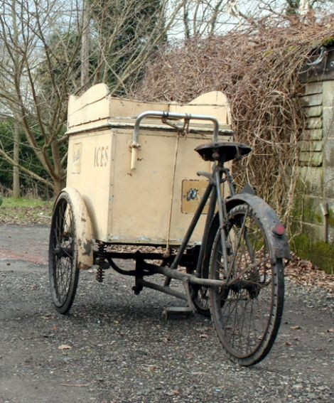 1920s Warrick Walls Ice Cream Tricycle