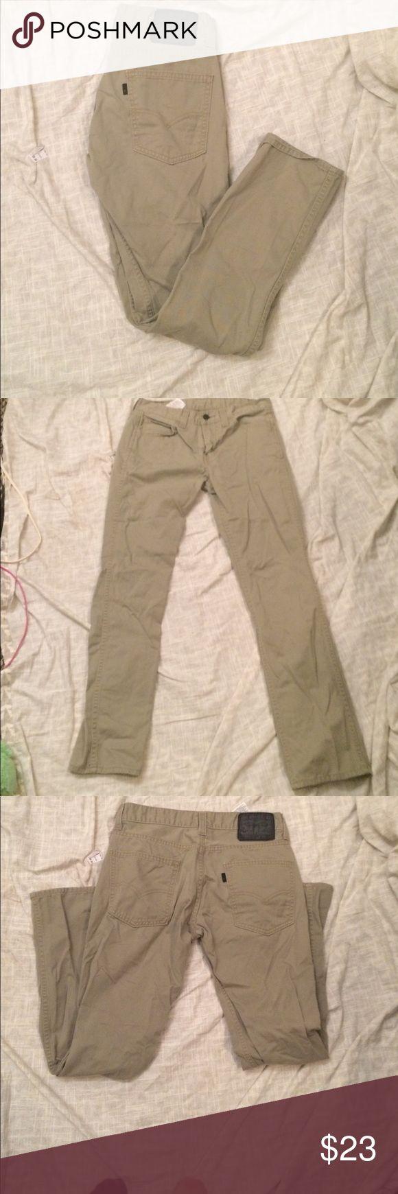 Men's Levi jeans 29x30 Khaki straight legged jeans from Levi's. Men's size 29x30! Good shape Levi's Jeans Straight