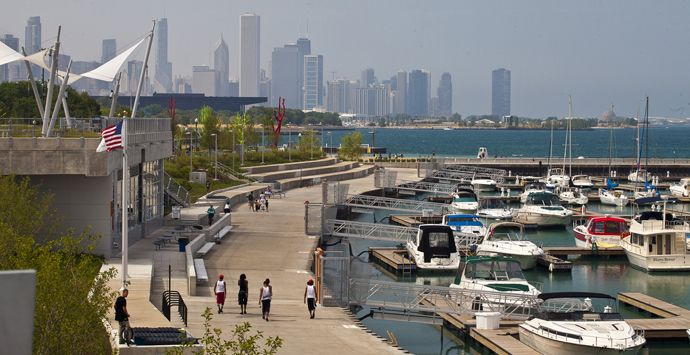 31st Street Harbor, Chicago, Illinois, United States. AECOM provided project management, landscape architecture, coastal engineering, civil engineering, structural engineering, geotechnical engineering, underpass architecture and LEED consulting services for the harbor, one of the largest built in Chicago in the last 50 years.