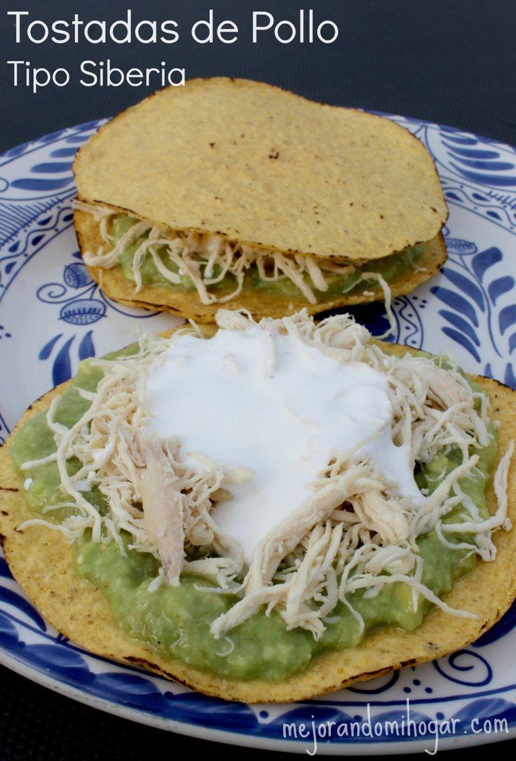 Tostadas de pollo tipo Siberia, inspiradas en las de Monterrey, receta fácil. #herdezkids #diadelnino #ad