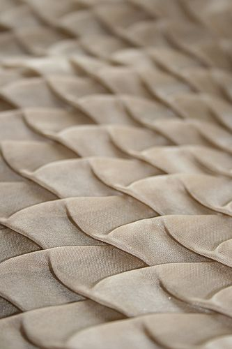 Textiles Design with an elegant use of fold and shape repetition to create textural patterns; fabric manipulation // Amy Pliszka