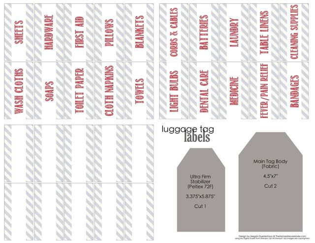 Linen Closet Labels (with free printable labels!) | The Homes I Have Made