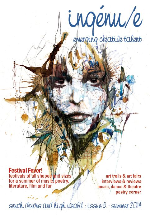 Front cover of issue 5 of ingénu/e magazine, pictured: Another Place by Carne Griffiths www.carnegriffiths.com