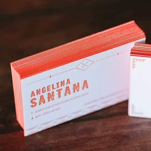 433 best wide eyes paper co images on pinterest watercolor loving the bright orange edge paint to spice up these custom letterpress business cards printed by reheart Choice Image