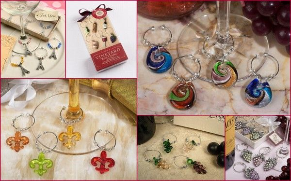 Wine Charm Favors for Holiday Party