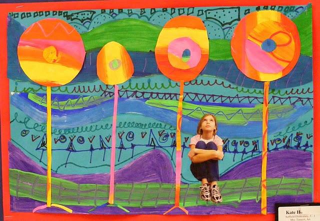 Collage avec une photo d'enfant.