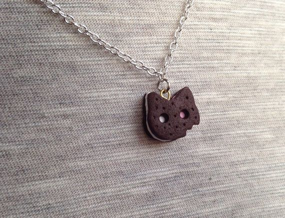 Steven Universe inspired Cookie Cat necklace
