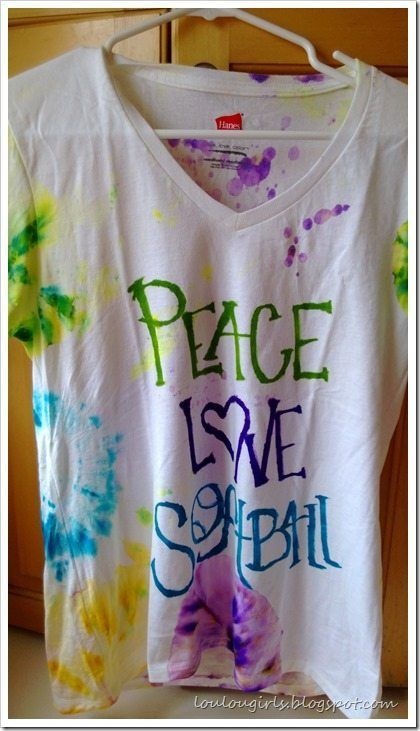 """My grandson, Max, was so bugged at his mom because she wouldn't let him make his shirt for the 4th of July, and he told me that he had a fantastic idea. I had been thinking about doing this idea that I have used before for Andie's birthday party, a few years ago and so … Continue reading """"Tie Dye T Shirts with Sharpies"""""""