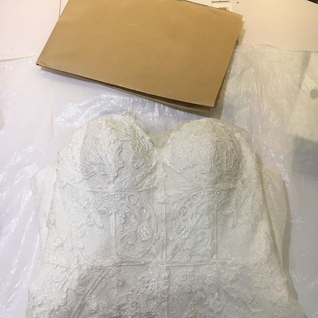 Unsure about what to do with your wedding dress after your wedding? One of our brides is having her dress dyed and cut short to become a beautiful cocktail dress. Watch this space for the after shot.... #lesleycutlerbridal #wedding