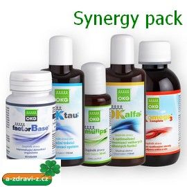 OKG Synergy pack ( Emulips 50 ml., OK Omega-3 Complete 120 ml., OK Alfa+ 115 ml., OKG Factor Base 60 tbt., OK Tau+ 115 ml. )