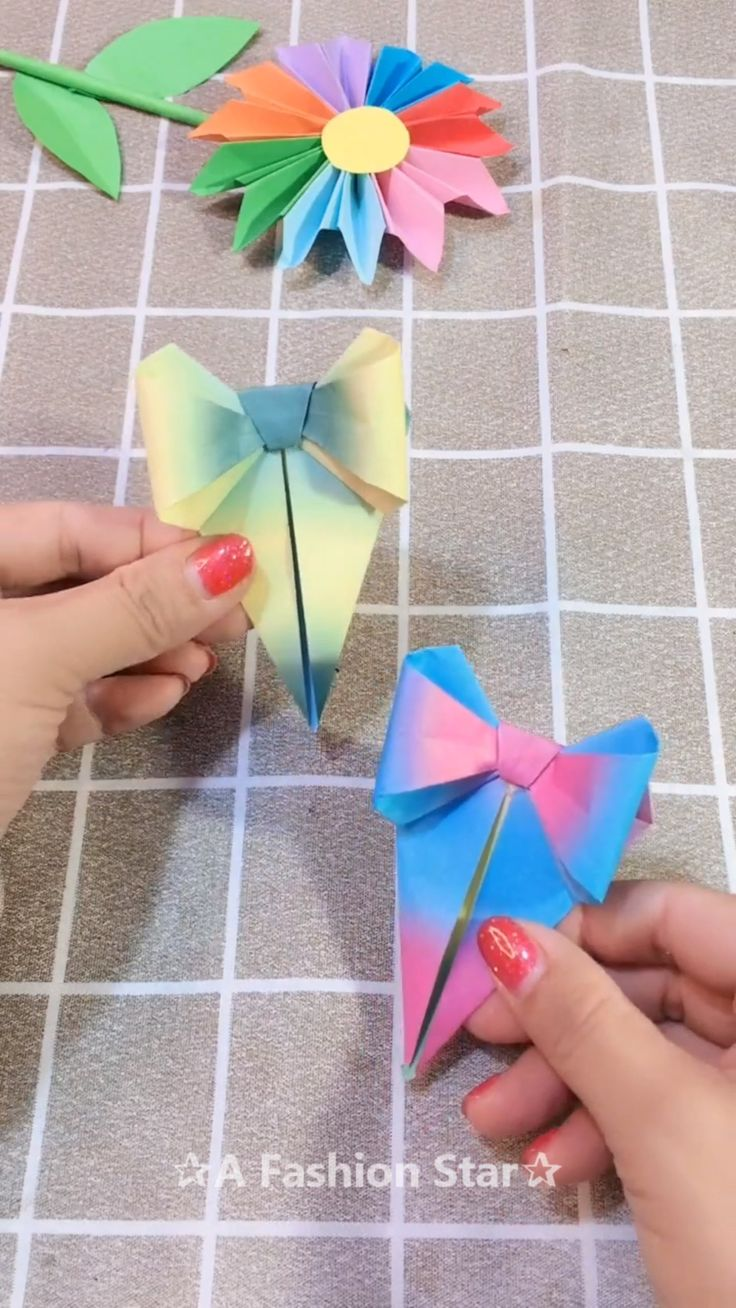 Beautiful Bow-Knot Bookmark Idea – DIY ✰A Fashion Star✰ – Basteln