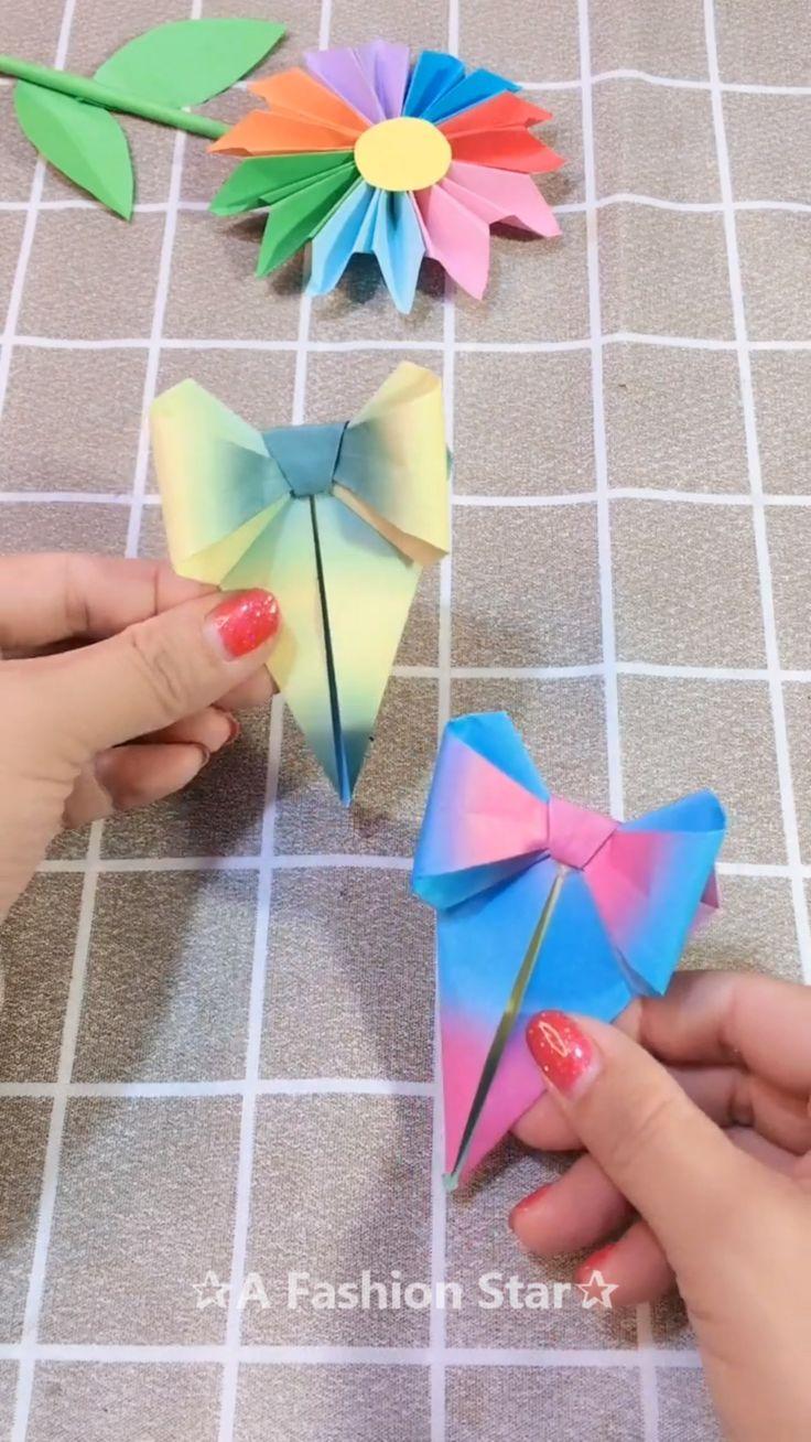Beautiful Bow-Knot Bookmark Idea – DIY ✰A Fashion Star✰