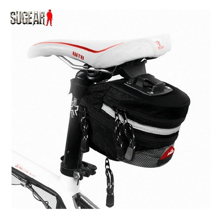 New Arrival Classic Black Large Capacity Extensible Waterproof Durable Polyster Bike Bicycle Bag Outdoor Cycling Rear Tail Pouch