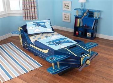 Kidkraft Airplane Toddler Wooden Bed Kids Plane In Home Furniture DIY Childrens