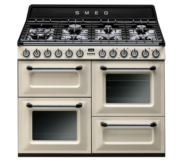 TR4110P1 Dual Fuel Range Cooker - Cream & Black