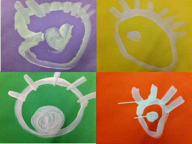 #OBRE EL ULLS - Material: cartolina, pintura - Nivell: Infantil P4 2014-15