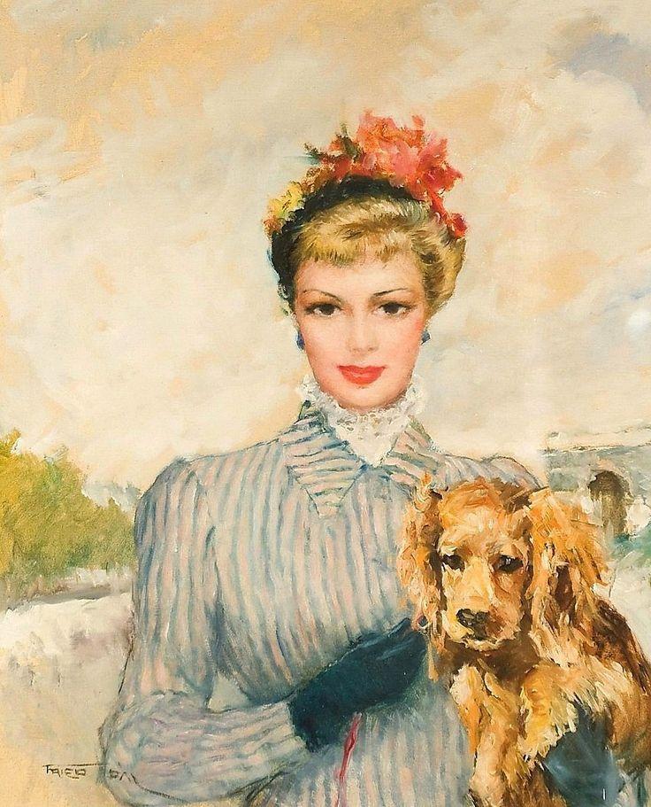 Пал Фрид Полотна Фрида были настолько популярными, что он или вынужден был, или так хотели заказчики, дублировать по несколько раз один и тот же сюжет, меняя лишь цвет костюма или фона полотна.