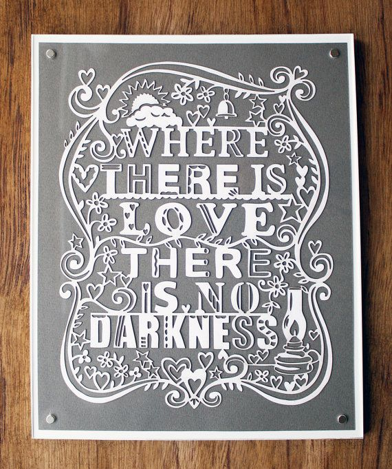 Where there is love, there is no darkness: Lasercut Artworks, Beautiful Paper, Paper Art, Absolutely Beautiful, Children, Dark Laser, Child Doors, Bedrooms Doors, Art Icul
