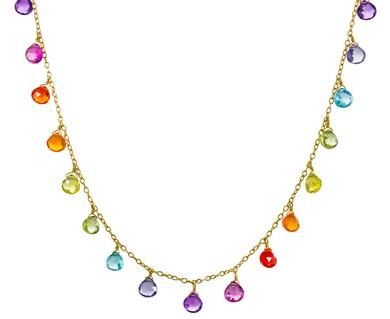 Marie-Helene de Taillac | Rainbow Gem Necklace in Designers Marie-Helene de Taillac Necklaces at TWISTonline