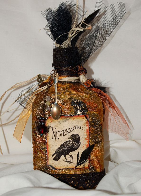 calico crafts graphic 45 happy haunting steampunk spells altered bottle back 2