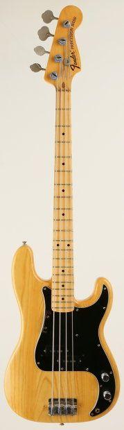 Fender Precision Bass 1975 Natural | Reverb