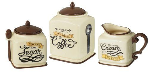 coffee themed canister sugar bowl amp creamer set kitchen incredible coffee themed kitchen canister sets decorating