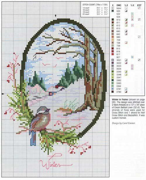 Schema punto croce Inverno