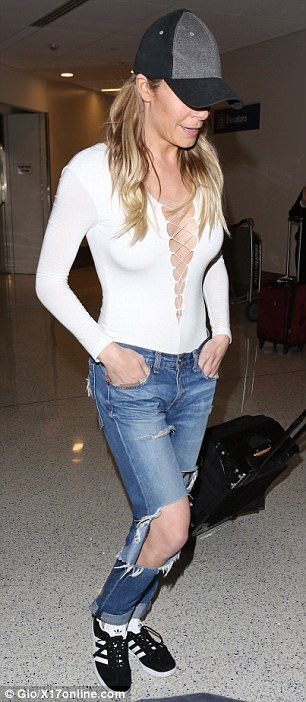 Distressed style: LeAnn kept in-tune with her causal look in a pair of distressed boyfriend jeans, which featured gaping holes in the knees  #Autos #Beauty #Books #Funny #Finance #Food #Games #Health #News #Pets #Sport #Soccer #Travel #FunnyGifs #Entertainment #Fashion #Quotes #Animals #Insurance #CarInsurance #Autoinsurancecompaniesquotes #Insurancequotesautoonline #Onlinequotesforautoinsurance #Bestautoinsurancequotes #Automotiveinsurancequote #Affordableautoinsurancequotes…