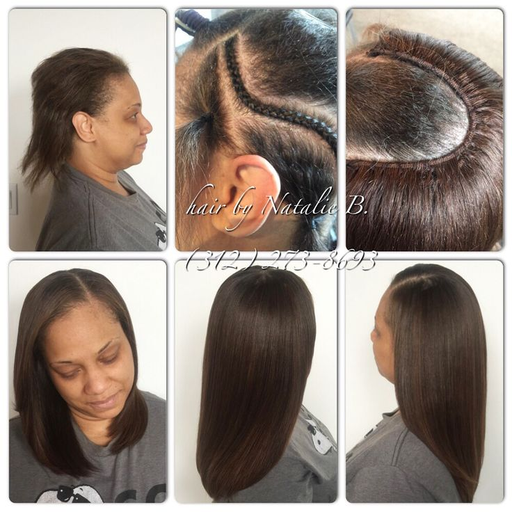 Check out how flat my sew-ins are in the above right photo ...
