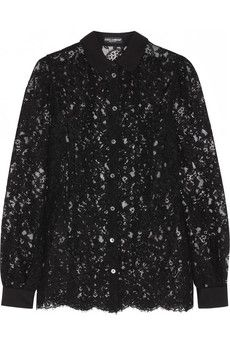 Dolce & Gabbana Cotton-blend lace blouse | NET-A-PORTER