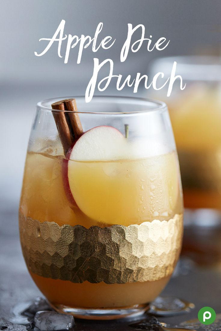 Want dessert first? You can have it with this recipe for Apple Pie Punch. It's just as delicious as it is easy to make. Mix bottled apple cider, orange juice, cloves, and cinnamon sticks in a large saucepan and bring it to a boil. Strain the cider and chill. Serve over ice and garnish with cinnamon sticks and apple slices.