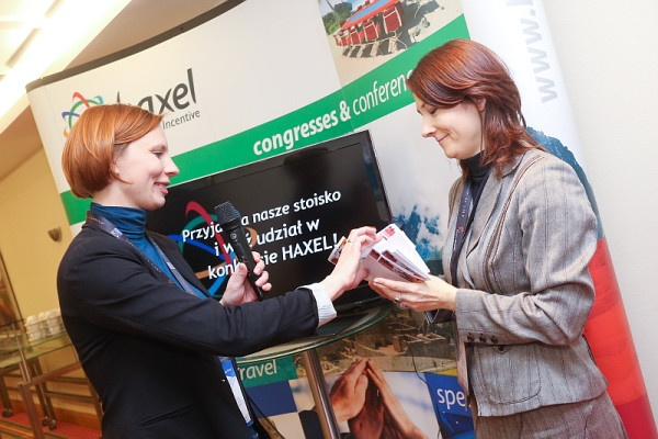Haxel Events & Incentive at the Sales Congress in Warsaw Poland last February