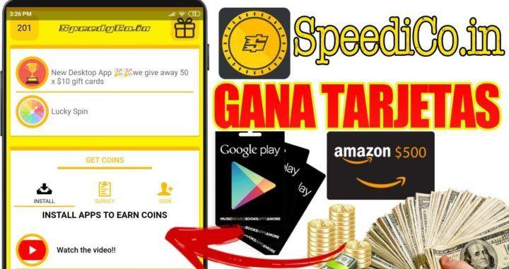 Speedyco In Consigue Tarjetas Gratis De Google Play Amazon Play Station Y Más Soy Ronny G Ganar Dinero Gratis Paginas Para Ganar Dinero Tarjetas Gratis