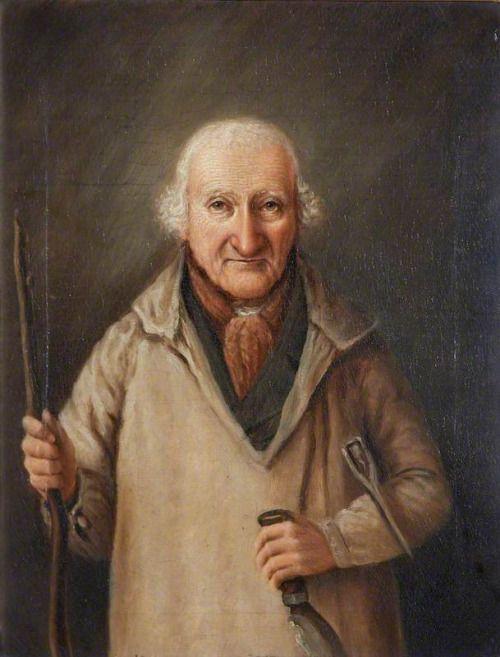 Ричард Bunclark из Эшбертон (1756-1855), Дровосек к Друидического Estate в Эшбертон, в возрасте 95 Генри Caunter (активный c.1846-c.1850) Национальный фонд, Брэдли Manor