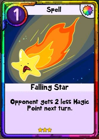 Adventure Time Card Wars - Falling Star Spell Card card wars - time card