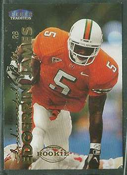 edgerrin james football cards | 1999 Fleer Tradition #277 Edgerrin James ROOKIE Football cards value