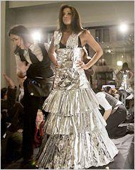 Aluminum Foil Dress