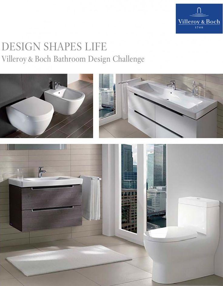 DESIGN SHAPES LIFE: Villeroy & Boch Presents Bathroom Design Challenge #competition #interiordesign