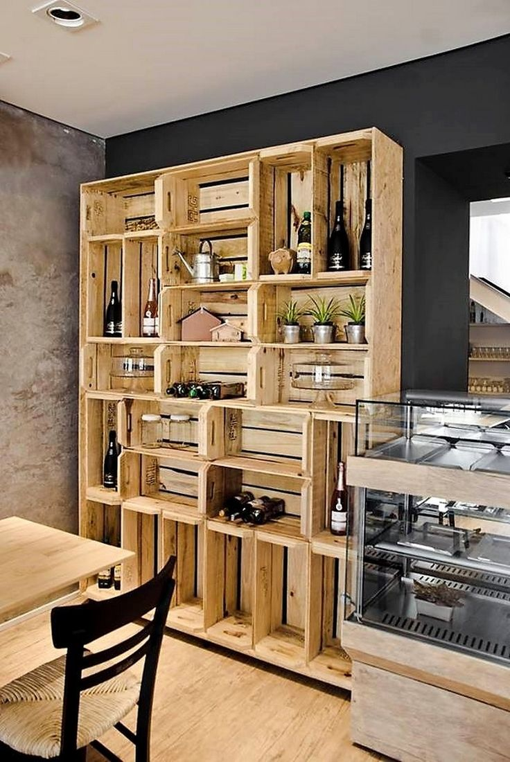 pallets kitchen shelving rack