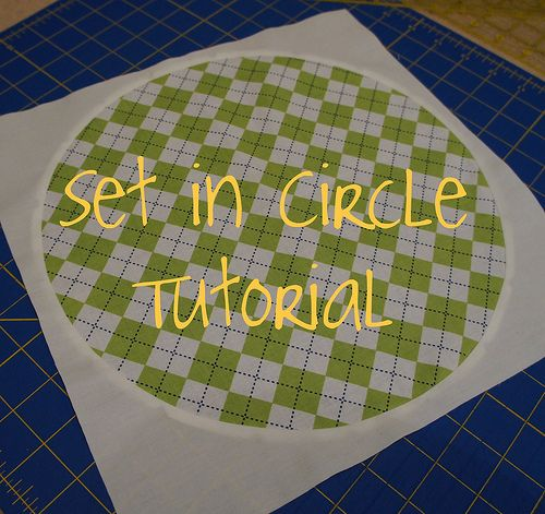 Perfect timing for this tutorial for making set in circles. You don't need to use 8 pieces to make this, just two. Love Cut to Pieces!