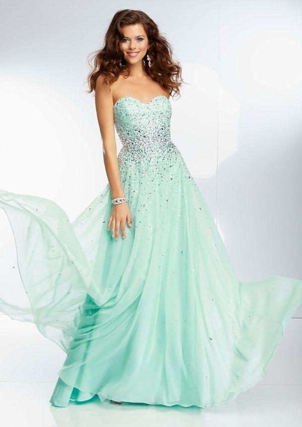 Paparazzi dress - Bright Fuchsia, Turquoise, Banana Split, Bright Coral, Mint - 95090 Beaded Chiffon Gown