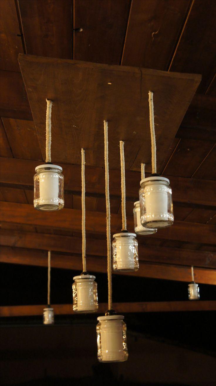 Befőttes üveg lámpa Jar lamp