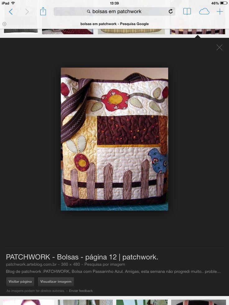Bolsas em patchwork