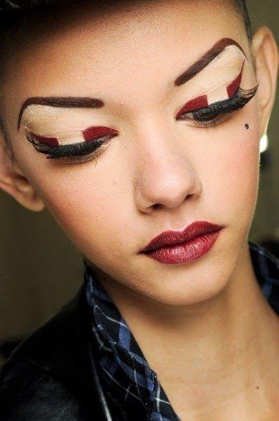 ... Runway Makeup : makeup : Pinterest : Runway Makeup, Runway and Makeup