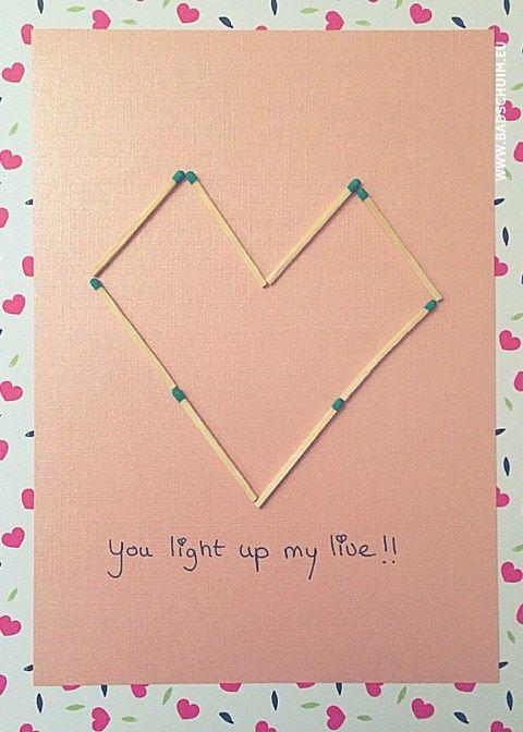 You light up my live - valentijns kaartjes zelf maken - te vinden op het creatief lifestyle blog www.badschuim.eu
