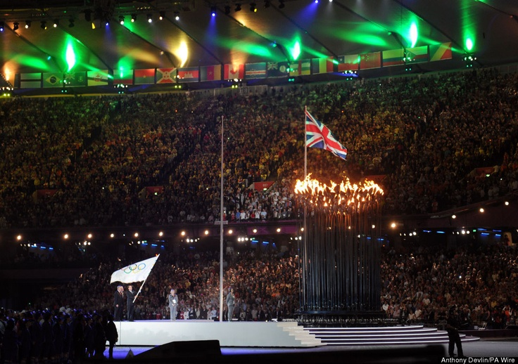 London Olympics Closing Ceremony Olympic Torch