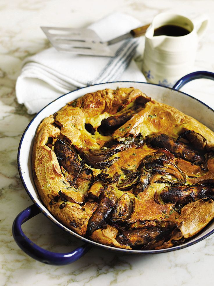 A British favourite, toad-in-the-hole, with its succulent sausages and comforting batter is always a winner. And it's cheap to make too.